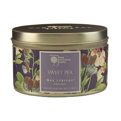 Sweet Pea Scented Tin Candles RHS Fragrant Garden Wax Lyrical 20 Hours